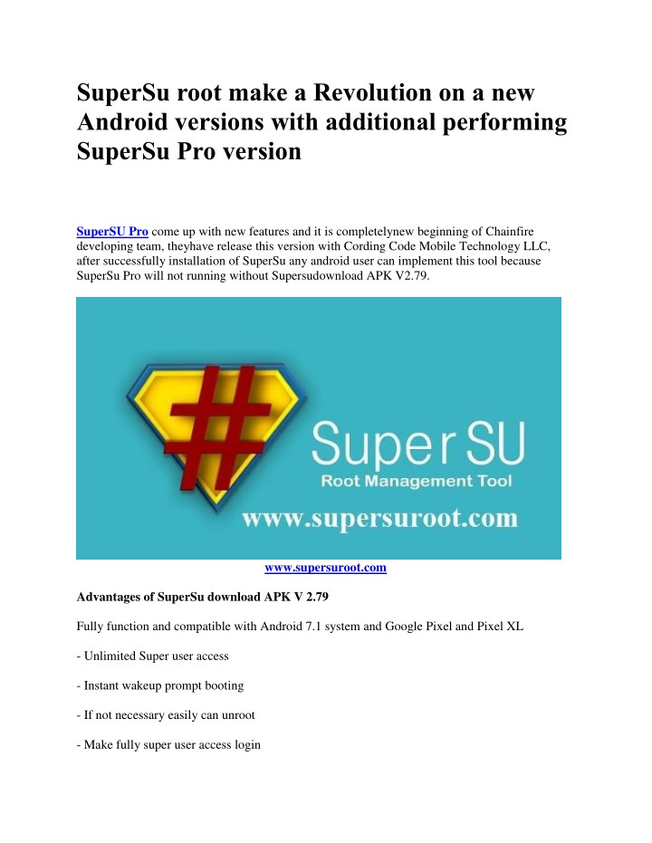 PPT - SuperSU Root, Syetemless Root Android Latest Versions