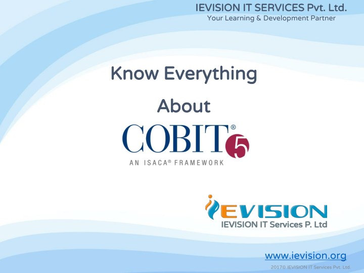 Ppt Cobit 5 Foundation Training Certification Course Ievision