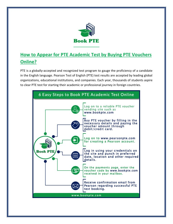 PPT - How to Appear for PTE Academic Test with PTE Voucher