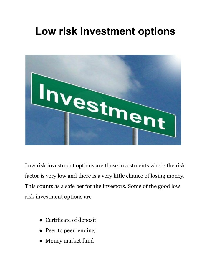 Options for low cost investment