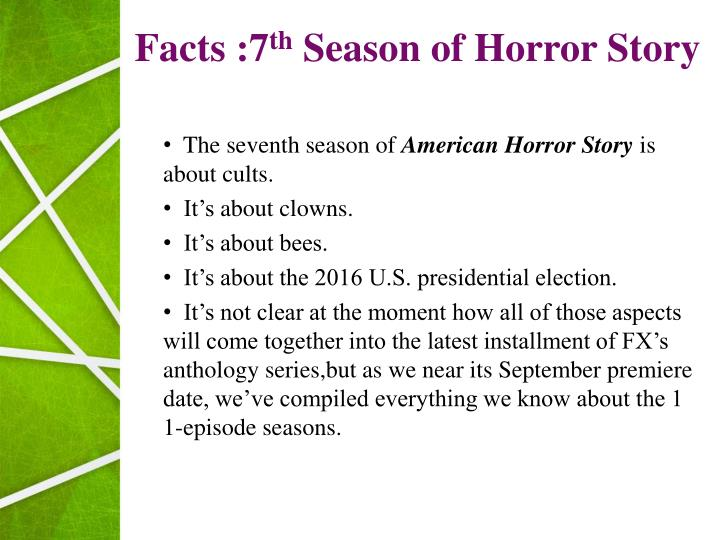 PPT Season 7 American Horror Story PowerPoint Presentation ID
