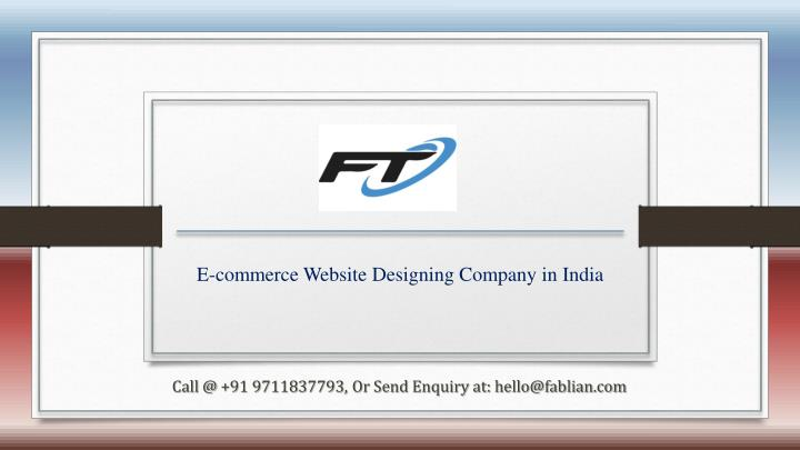 e commerce website designing company in india n.