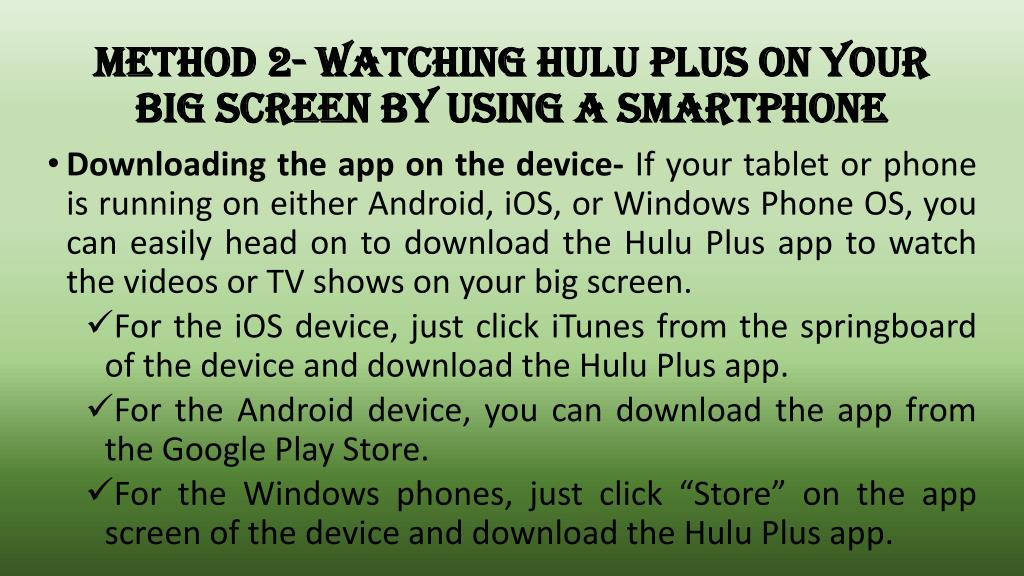 PPT - How To Watch Hulu Plus On Your TV? Call 1888-416-0142