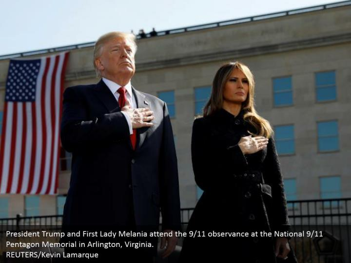 President trump and first lady melania attend