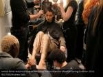 model bella hadid is prepared backstage before