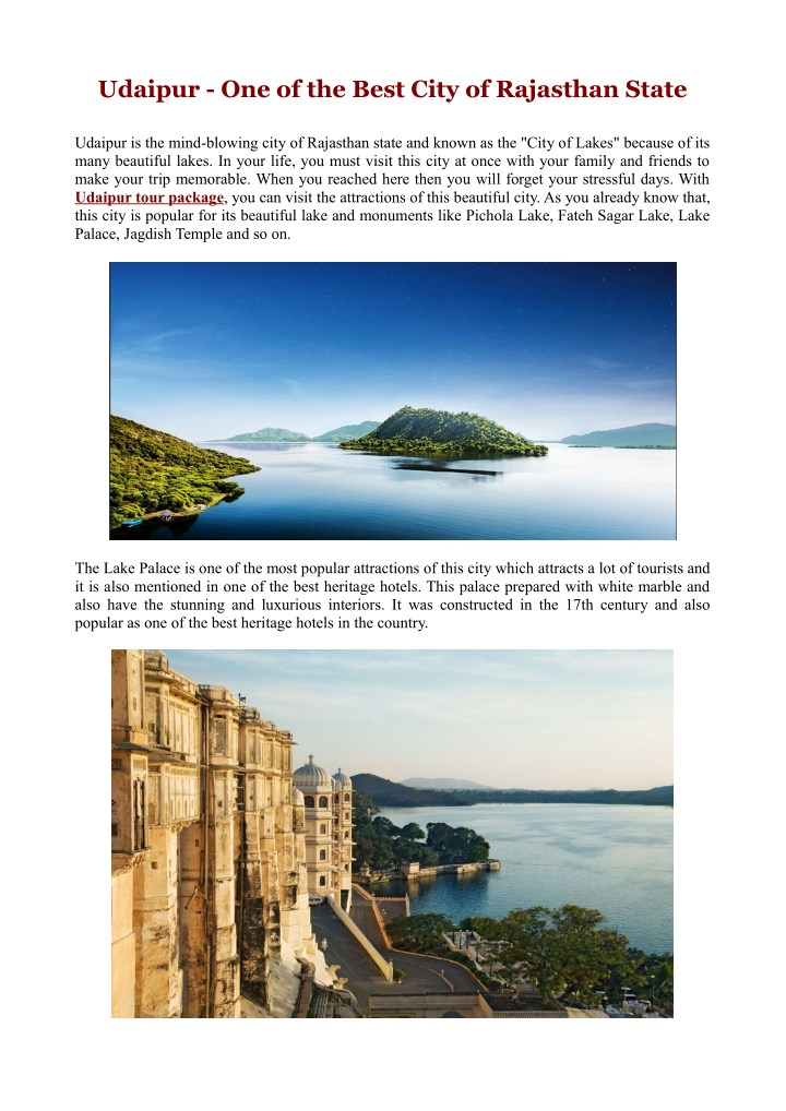 udaipur one of the best city of rajasthan state n.