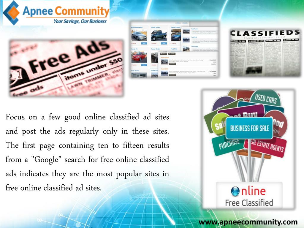 PPT - Free Online Classifieds for Minor Enterprise Development