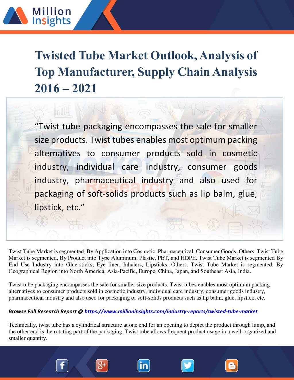 PPT - Twisted Tube Market Outlook, Analysis of Top