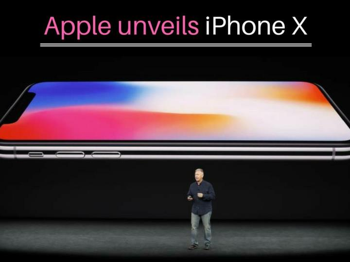 apple unveils iphone x n.