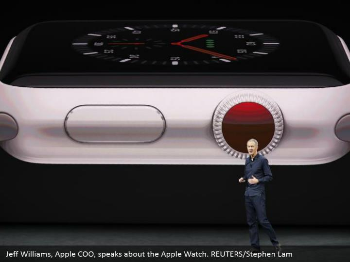 Jeff Williams, Apple COO, speaks about the Apple Watch. REUTERS/Stephen Lam