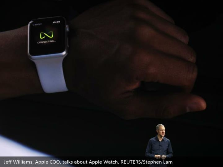 Jeff Williams, Apple COO, talks about Apple Watch. REUTERS/Stephen Lam