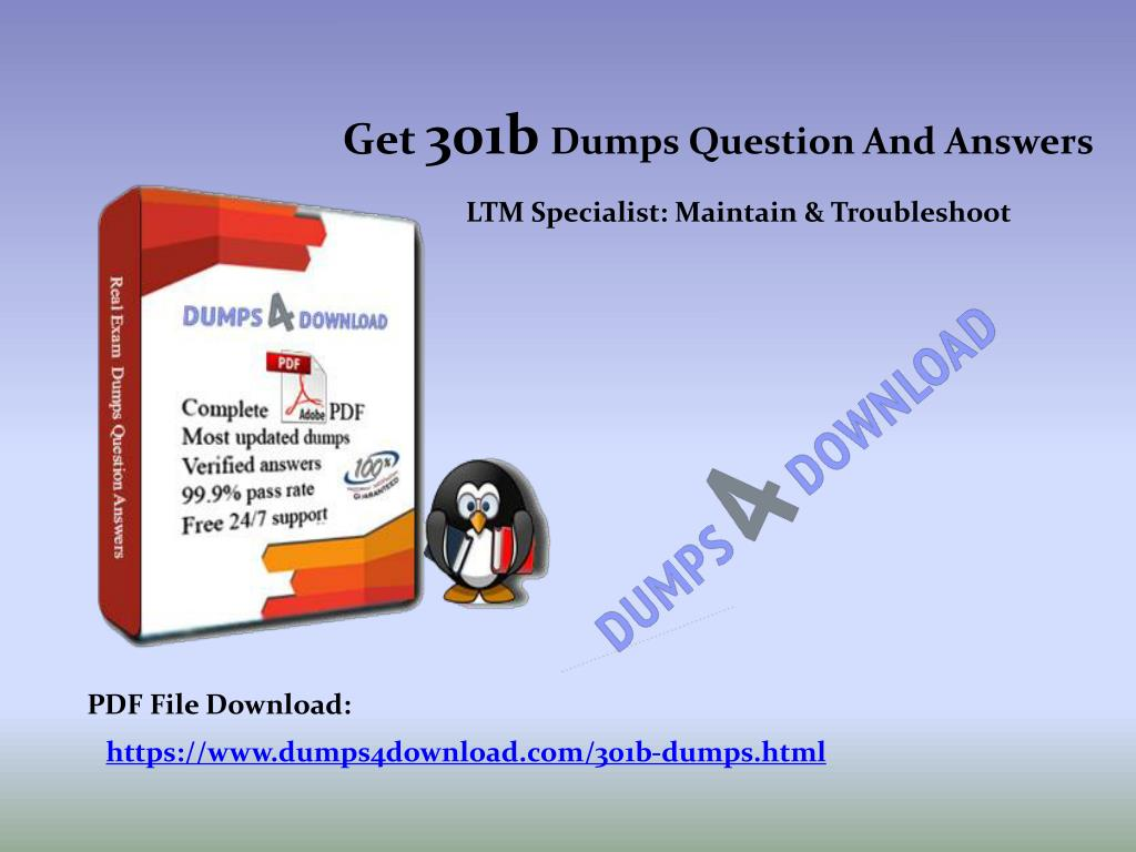 PPT - Final F5 301b Exam Study Material - Dumps4Download com