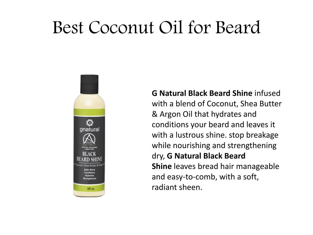 PPT - Best Coconut OIl for Beard    Alphaclub4men PowerPoint