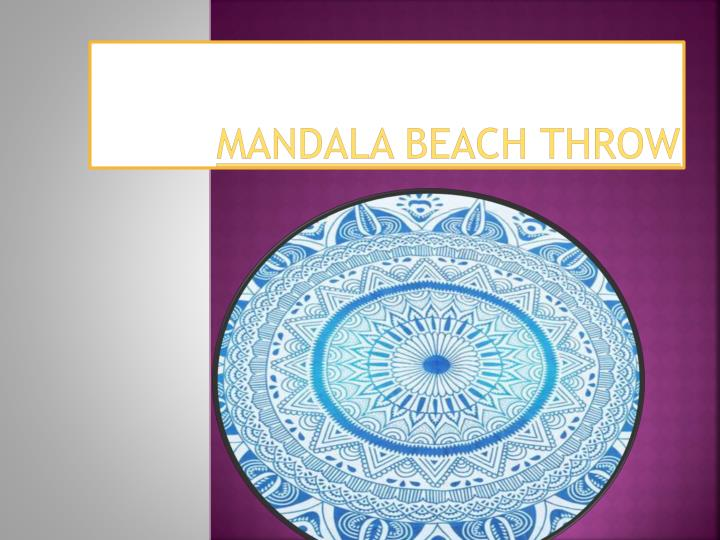 mandala beach throw n.