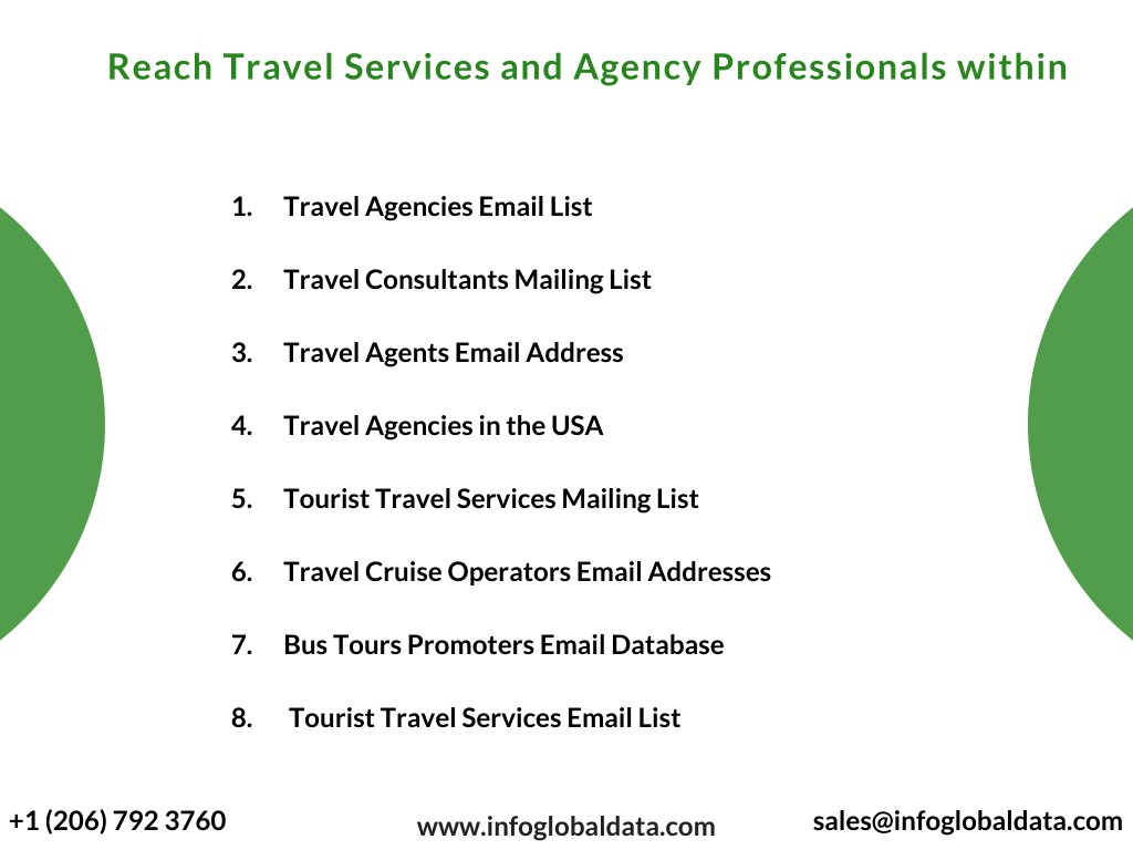 Top Five Email List Of Travel Agents In Usa - Circus