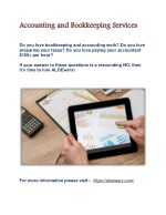 accounting and bookkeeping services do you love