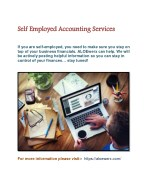 self employed accounting services if you are self