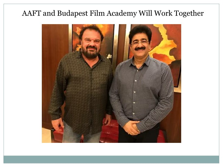 aaft and budapest film academy will work together n.