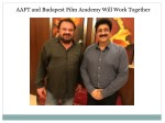 aaft and budapest film academy will work together