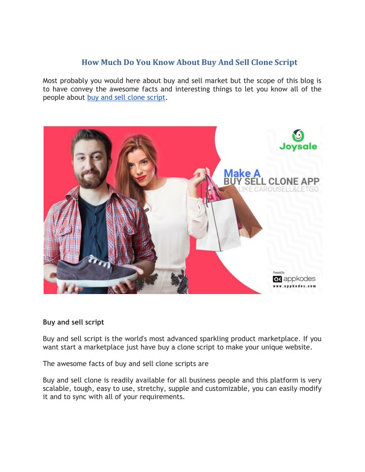 how much do you know about buy and sell clone n.