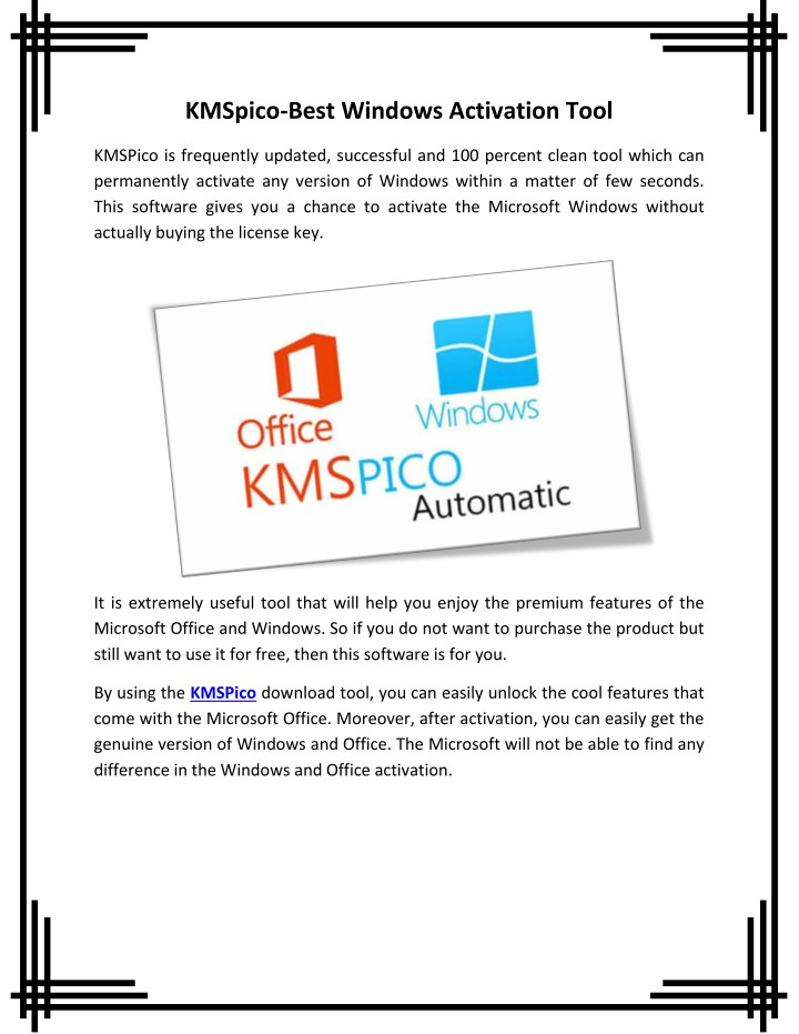 PPT - KMSpico-Best Windows Activation Tool PowerPoint