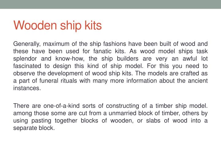PPT - Wooden ship kits PowerPoint Presentation - ID:7690153
