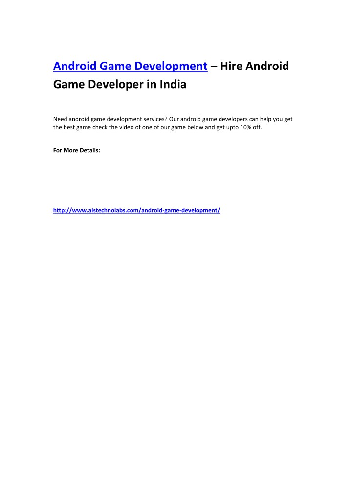 android game development hire android game n.