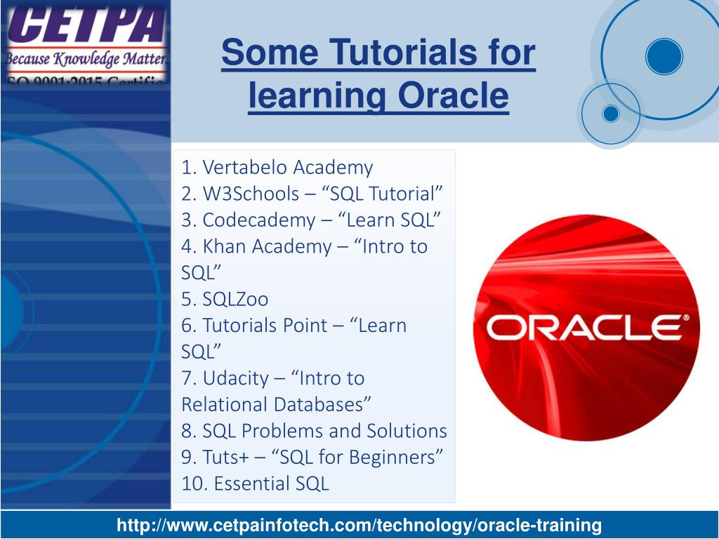 PPT - Oracle Training company in Noida PowerPoint Presentation - ID