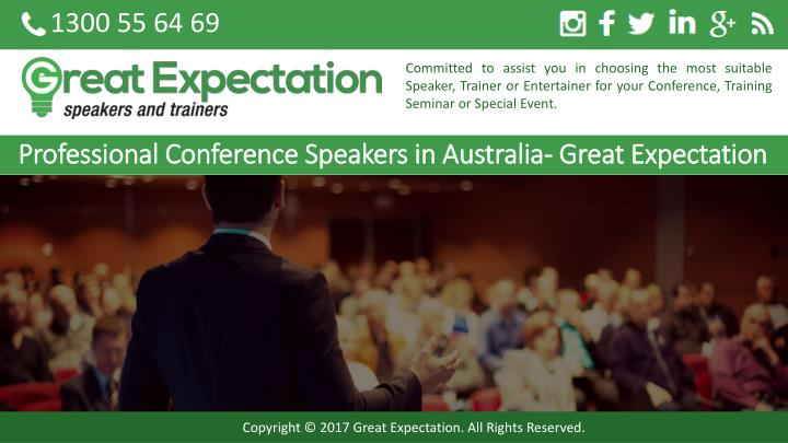 professional conference speakers in australia great expectation n.