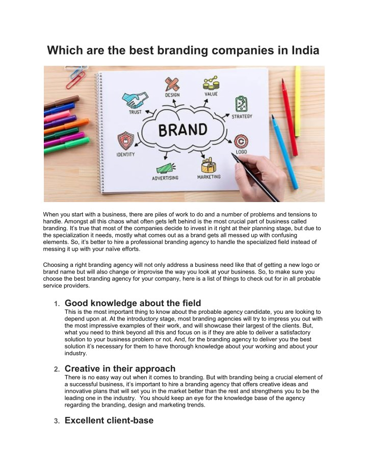 which are the best branding companies in india n.