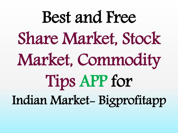 best and free share market stock market commodity n.