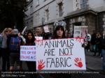 hundreds of anti fur campaigners block