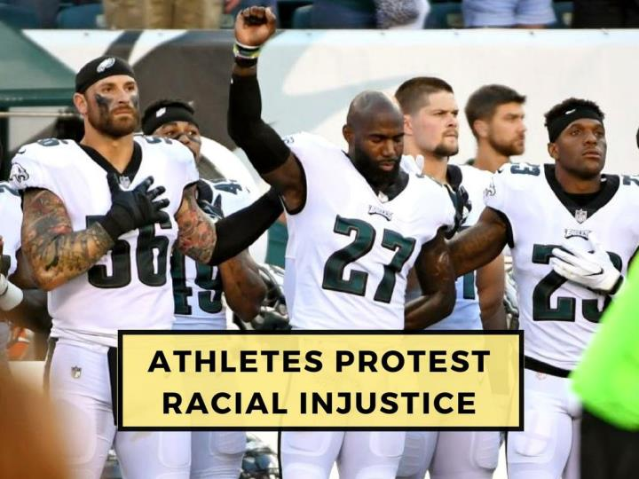 athletes protest racial injustice n.