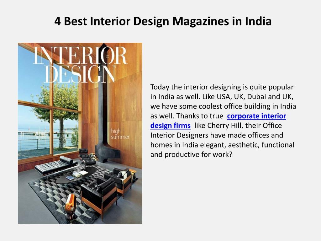Ppt 4 Best Interior Design Magazines In India Powerpoint Presentation Id 7693798