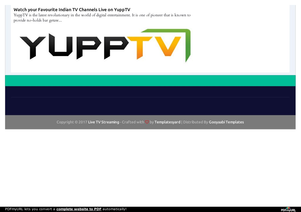 PPT - Indian TV Channels Live on YuppTV PowerPoint