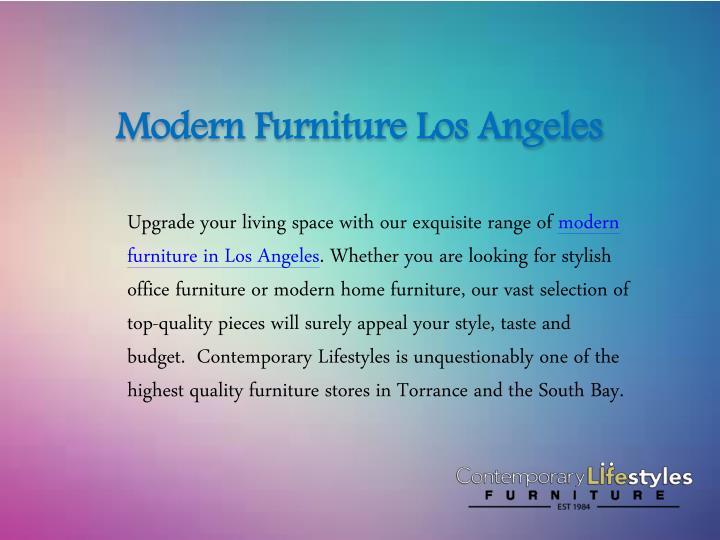 Ppt Modern Furniture Los Angeles Powerpoint Presentation Id 7693998