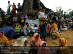 new rohingya refugees sit near the kutupalang