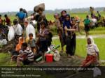 rohingya refugees rest after travelling over