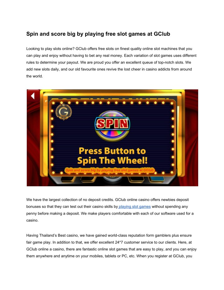 spin and score big by playing free slot games n.