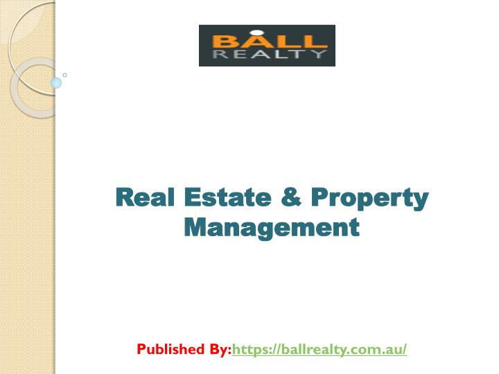 PPT - Real Estate & Property Management PowerPoint