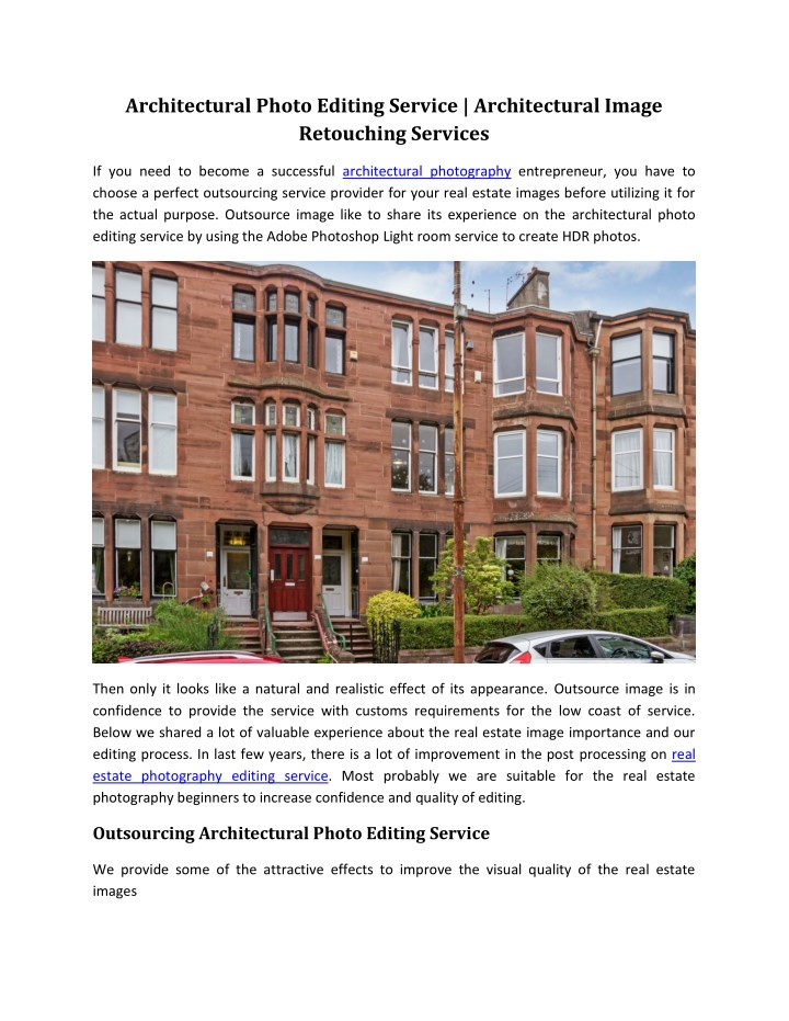 architectural photo editing service architectural n.