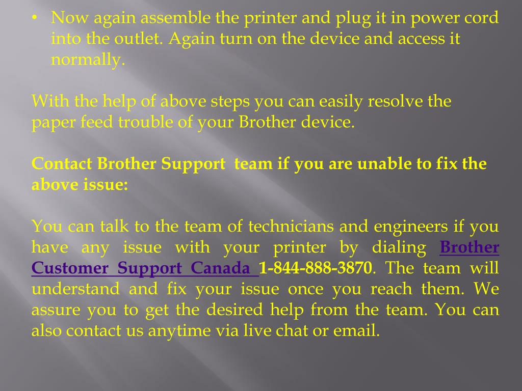 PPT - Fixing Paper Feed issue on Brother Printer PowerPoint