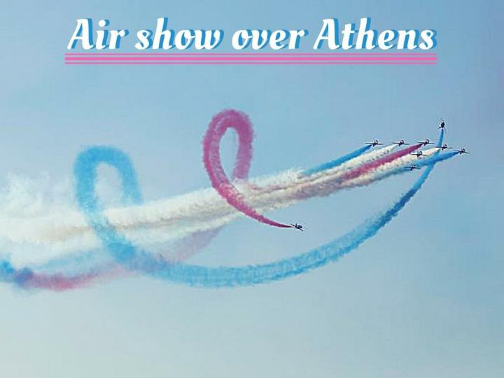 air show over athens n.