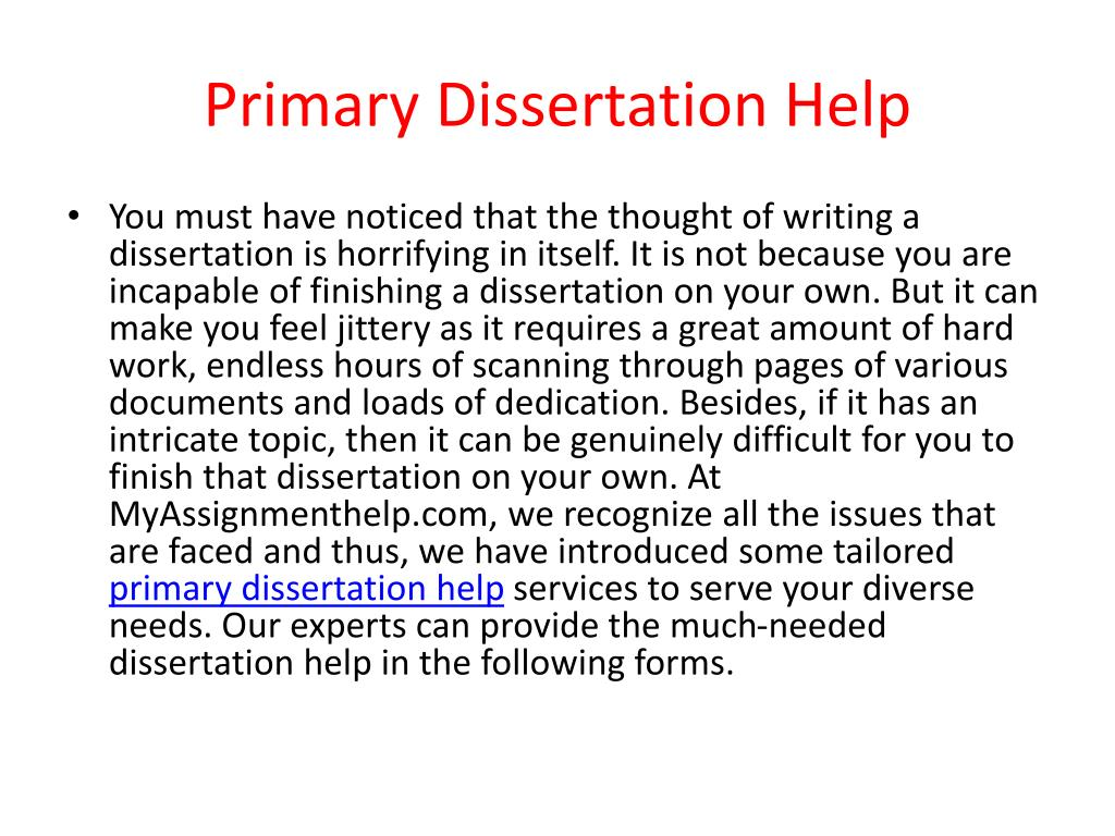 Dissertation help online free
