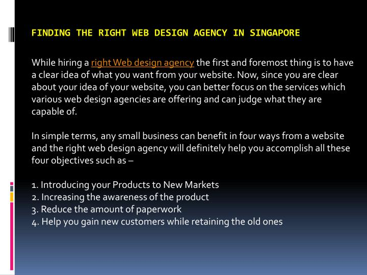finding the right web design agency in singapore n.