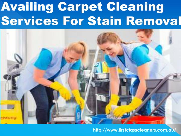 availing carpet cleaning services for stain removal n.
