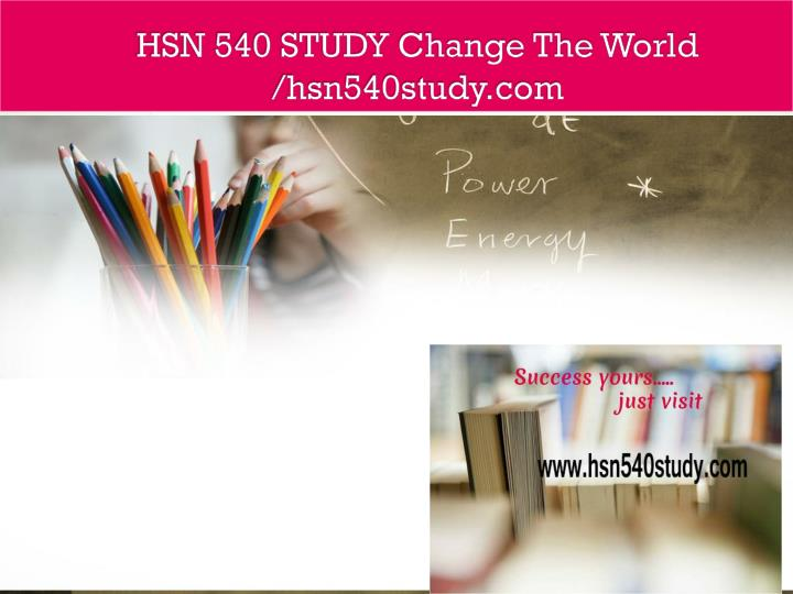 hsm 541 course project