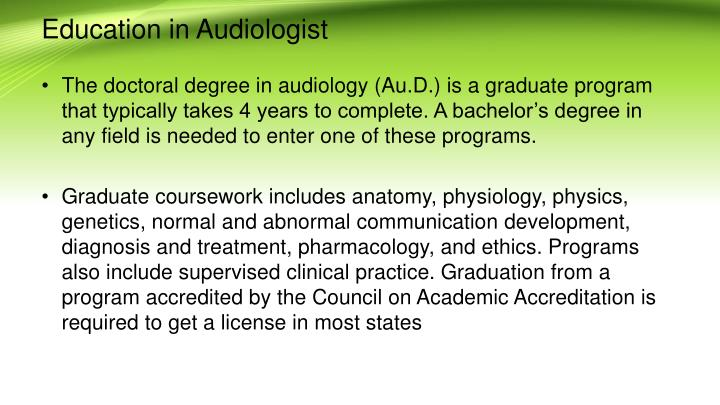 Ppt Why Audiology Is In Boom Today Career Salary And Education