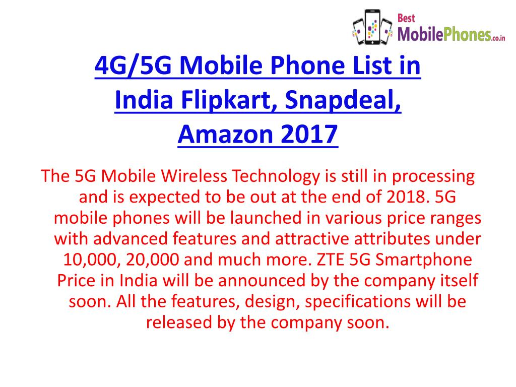 PPT - 5G Smartphones PowerPoint Presentation - ID:7695211