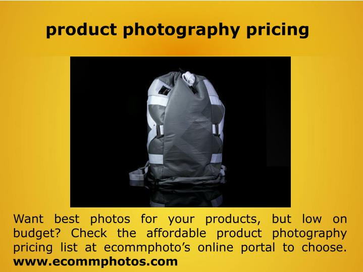product photography pricing n.